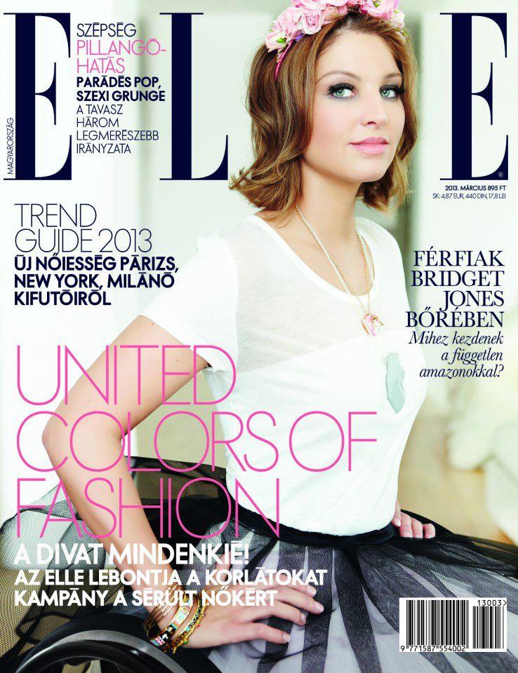 <p>Az ELLE Magazin címlapján Varga Katalin, , a Miss Colours Hungary 2012 szépségkirálynője. Európában először szerepel kerekesszékes modell divatlap borítóján.</p>