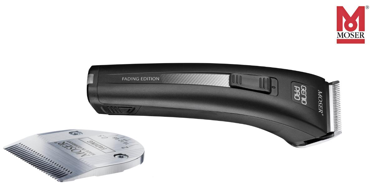Az új Moser Genio Pro Fading hajvágógépet a mostanában méltán népszerű borbélykodás ihlette. A praktikus funkciók és a kiváló vágási teljesítmény mellett a Moser Genio Pro Fading innovatív cserélhető akkumulátorokkal is rendelkezik, melyek korlátlan vezeték nélküli működést tesznek lehetővé. Köszönhetően a kifinomult, letisztult formának és a mindig elegáns fekete színnek az új Moser Genio Pro Fading hajvágógépnek minden fodrásszalonban helye van.