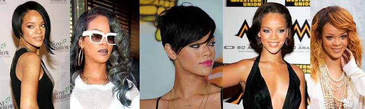 <p>A barbadosi származású énekesnő úgy váltogatja a frizuráit, mint senki más. Mindig képes megújulni és valami igazán meghökkentővel előállni. Hol a fazont, hol a színt változtatja meg. Következzen az 5 kedvenc RiRi frizuránk.</p>